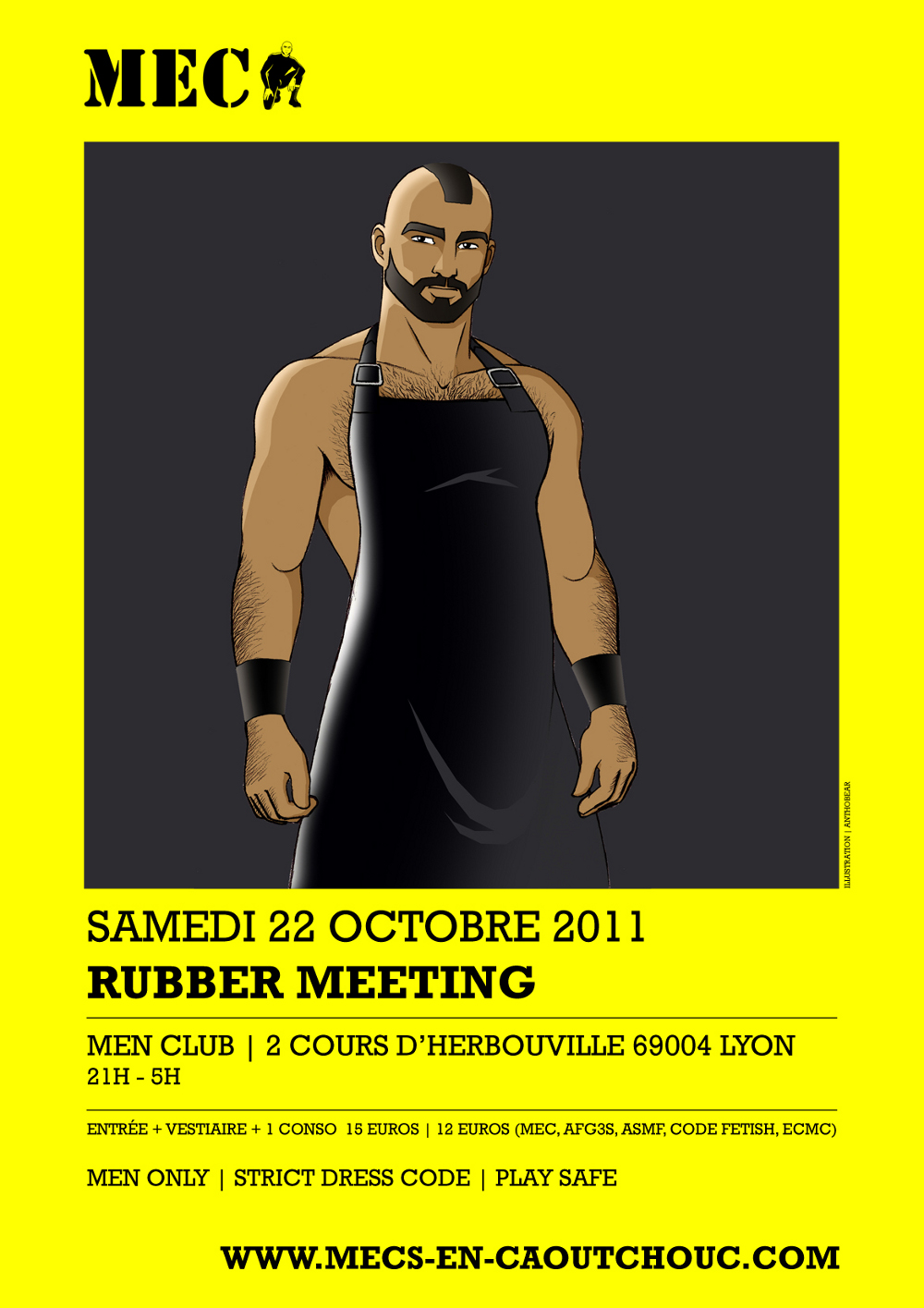RUBBER MEETING | SAMEDI 22 OCTOBRE 2011 | MEN CLUB LYON