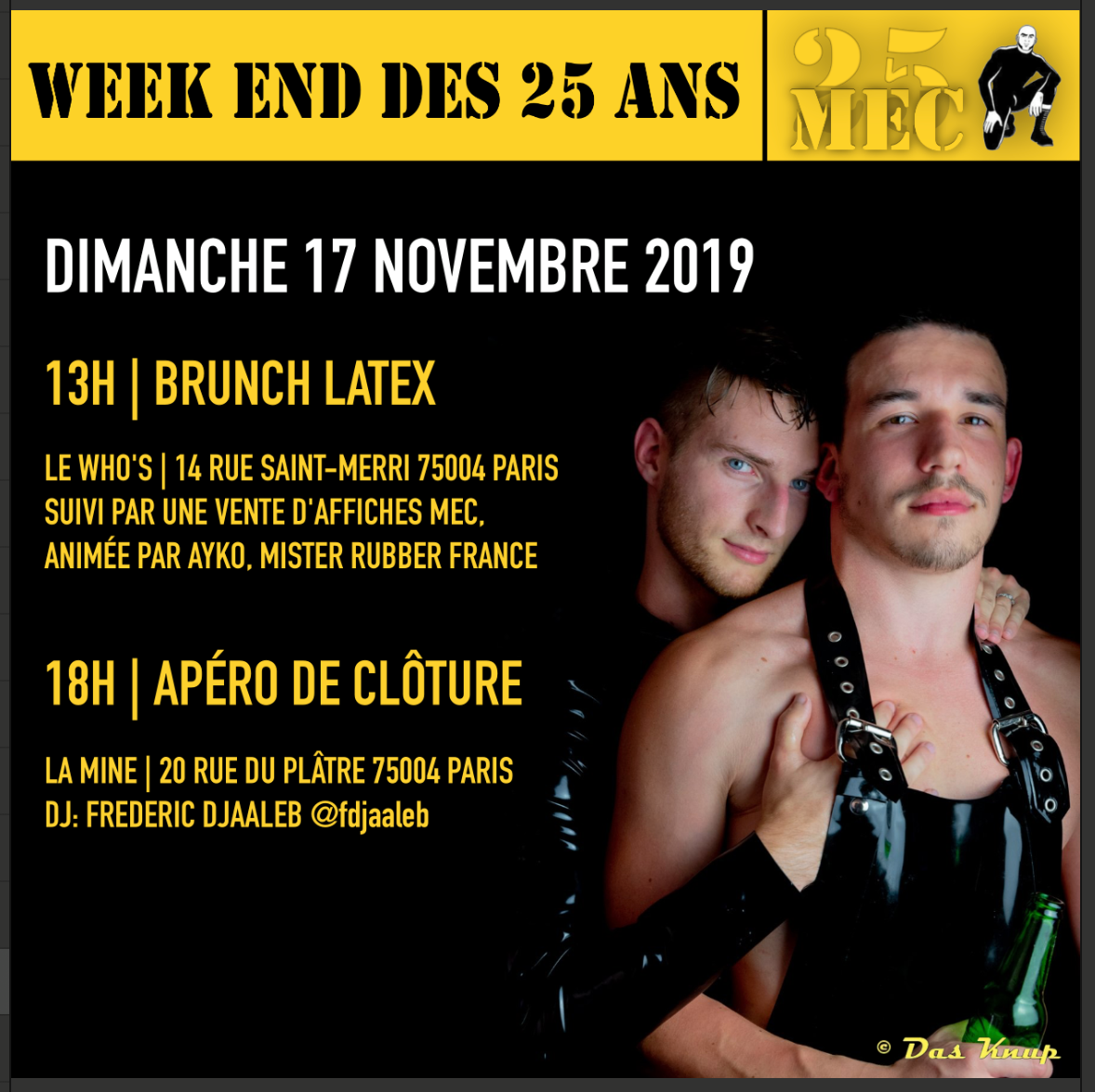 Apéro de Cloture / Closing Drinks - Weekend des 25 ans